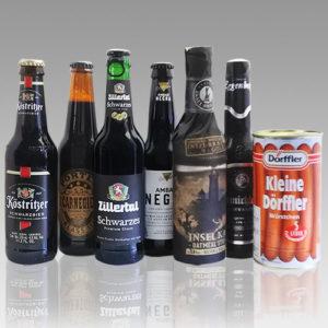 黒ビール6種6本+ドイツ産ソーセージ250g缶詰セット